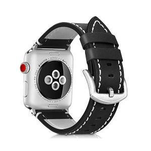 Runostrich コンパチブル apple watch バンド 44mm 42mm,本革 ビジネススタイル コンパチブル アップルウォッチバンド kokona0221