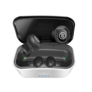Lotton IQute真のワイヤレスイヤホン、Bluetooth 5.0、12mmグラフェンドライバー、3Dステレオ、エキストラベース、40時間以 kokona0221
