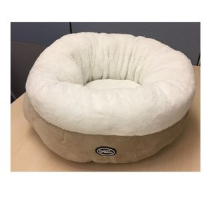訳あり 在庫処分 キトンドリーム ラウンドベッド ベージュ 猫 ベッド|kokoro-kokoro
