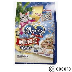 訳あり 在庫処分 銀のスプ?ン 贅沢素材バラエティ 750g 猫 キャットフード えさ 餌 ドライ ◆賞味期限 2020年10月|kokoro-kokoro