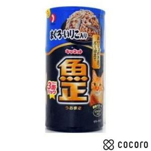 訳あり 在庫処分 キャネット 魚正 まぐろ・いりこ入り 【160缶gx3個入P】 猫 缶詰 キャットフード ◆賞味期限 2020年8月 kokoro-kokoro