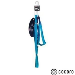 訳あり 在庫処分 ドギーマン モノカラーハーネス 8mm ブルー 超小型犬用 リード|kokoro-kokoro