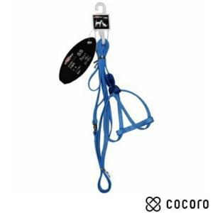訳あり 在庫処分 ドギーマン ミニチェックハーネス 8mm ブルー 超小型犬用 ハーネス リード|kokoro-kokoro