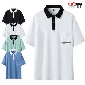 半袖ポロシャツ メンズ ポロシャツ トップス tシャツ ポロ シャツ polo 半袖 おしゃれ 細身 ジュニア 2021 夏 新作|kokoro1090