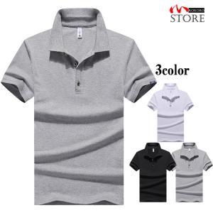 半袖ポロシャツ トップス ポロシャツ polo 半袖ポロ tシャツ 無地 スリム メンズ 父の日 2021 夏 新作|kokoro1090