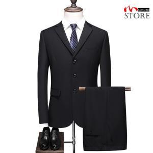 ビジネススーツ メンズ フォーマルスーツ 礼服 ブラックフォーマル セットアップ 結婚式 卒業式 通...