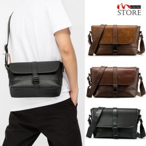 メッセンジャーバッグ メンズ カバン 鞄 PUレザー ショルダーバッグ フラップ 斜めがけ 大きめ A4 通勤 通学 kokoro1090
