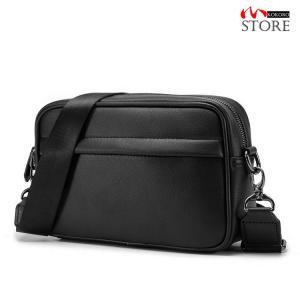 ショルダーバッグ メンズ ブラック オシャレ シンプル ミニバッグ ショルダー カバン 鞄 斜めがけ PUレザー 小さい 通勤 通学 kokoro1090