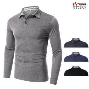 ポロシャツ メンズ 大きいサイズ 長袖ポロシャツ polo ゴルフシャツ ゴルフウェア トップス ポロ 秋物 夏服|kokoro1090