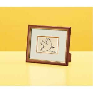 VS 絵画額縁/フレーム 〔壁掛け・置き型兼用〕 スタンド付き ピカソ 「平和」 kokoroes