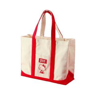 VS HeLLo Kitty ハローキティ エコエコトートバッグ/鞄 〔レッド/赤〕 綿使用 裏面ノープリント kokoroes