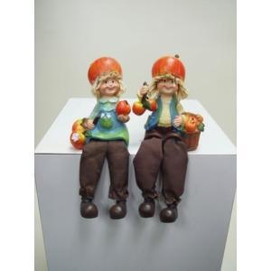 ディスプレイとしてかわいい♪置物お座り人形 リンゴ 2SET|kokoroes