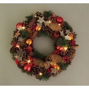 クリスマスLEDリース レッド  41200|kokoroes