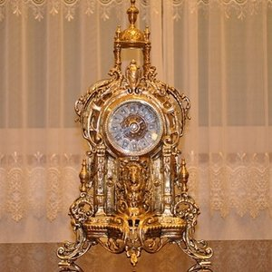 スペイン製 真鍮 ブラス 置き時計  ドーム|kokoroes