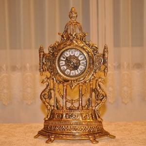 スペイン製 真鍮 ブラス 置き時計  ドラゴン|kokoroes