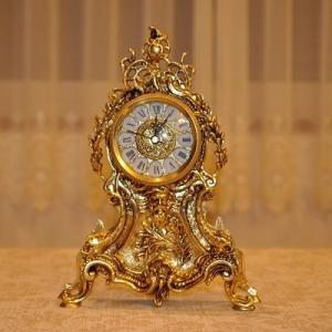 スペイン製 真鍮 ブラス テーブル置き時計 小|kokoroes