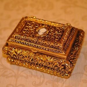 スペイン製 真鍮 ジュエリーボックス 宝石箱  小物入れ|kokoroes