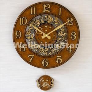 ベイリーローズアンティーク掛け時計/電波時計