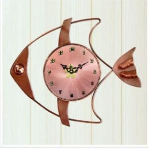 魚ll(赤銅) 掛け時計/電波時計