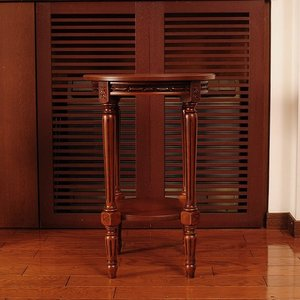 イタリア製家具 木製花台/コンソール(茶枠象嵌) kokoroes