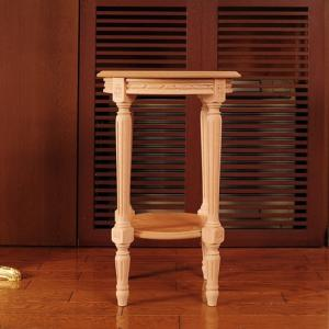 イタリア製家具 木製花台/コンソール(ナチュラル/無塗装) kokoroes