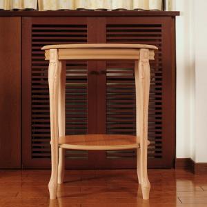 イタリア製家具 木製花台/コンソール(ナチュラル) kokoroes