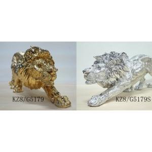 樹脂ライオン 置物 金/銀|kokoroes