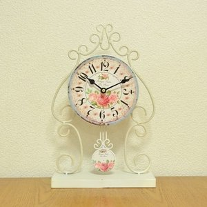 ローズ柄クラシック調置時計|kokoroes