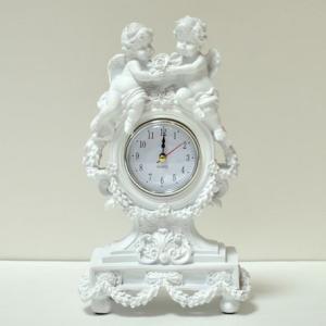 ホワイトエンゼル置時計|kokoroes
