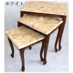サイドテーブル 3個セット 全3色 ヨーロッパアンティーク お姫様 姫系 ロマンチック ロマンティック|kokoroes