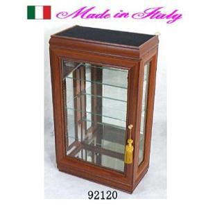 ガラスショーケース 代金引換不可 イタリア製 送料無料 ブラウン お姫様 姫系 ロマンチック ロマンティック