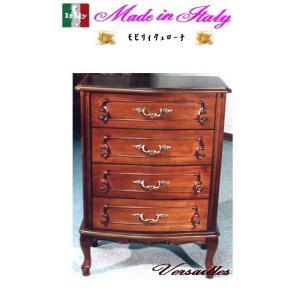 イタリア製4段チェスト 家具収納家具 送料無料 お姫様 姫系 ロマンチック ロマンティック|kokoroes