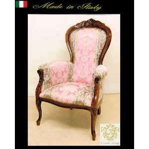 イタリア製高級ハイバックアームチェアー ピンク お姫様 姫系 ロマンチック ロマンティック|kokoroes