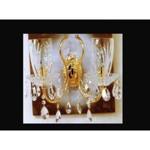 ブラケットシャンデリア クリスタルウォールランプ2灯 ハイクラス 高級壁掛け照明LED対応|kokoroes