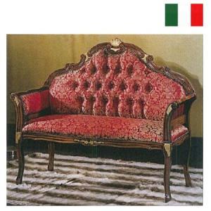 イタリア製クィーンズソファ ベンチ レッド W113 送料無料 お姫様 姫系 ロマンチック ロマンティック|kokoroes