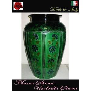 アンブレラスタンド イタリア製 陶器の傘立て 花瓶