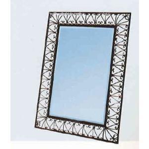 鏡 アイアン大型ウォールミラー 姿見 77×178