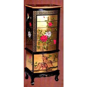 高級金箔 8段引出タンス 中国家具 箪笥 チェスト  アジア家具 kokoroes