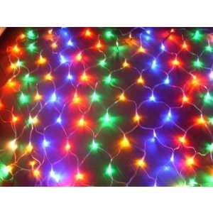 クリスマスLEDイルミネーション 208球ネットライト ミックス|kokoroes