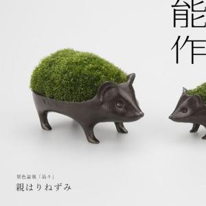 親はりねずみの苔盆栽  ■サイズ:高さ80 × 幅122 × 奥行66(mm) ■重さ:384g ■...