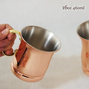 純銅製ビアマグ  16oz (460ml)  新光金属 銅 燕市 国産 銅製品 酒器 アイスコーヒー...