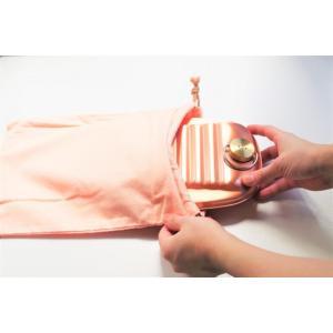 純銅湯たんぽ - 小(小判型)  ■寸法:奥行168 × 幅248 × 高さ45(mm) ■箱サイズ...