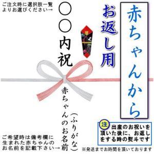 赤ちゃんを祝ってもらった お返し用のし 蝶結び熨斗 1枚|kokouki