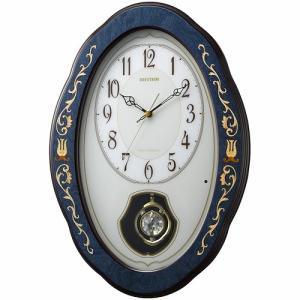 [文字入れ・名入れOK] 際立つ高級感あるハイグレード・クロック 芸術的な象嵌細工仕上げ RHYTHM/リズム 電波時計/掛け時計 【RHG-M90】[送料無料]|kokuga-shop