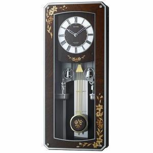 [文字入れ・名入れOK] 際立つ高級感あるハイグレード・クロック 芸術的な象嵌細工仕上げです RHYTHM/リズム 電波時計/掛け時計 【プライムメネット】|kokuga-shop