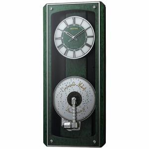 [文字入れ・名入れOK] 際立つ高級感あるハイグレード・クロック 美しい音色のディスクオルゴール RHYTHM/リズム 電波時計 【プライムオルガニートMN】|kokuga-shop