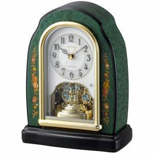 [文字入れ・名入れOK] 際立つ高級感あるハイグレード・クロック 芸術的な象嵌細工仕上げ RHYTHM/リズム 電波時計/置き時計 【RHG-S41】[送料無料]|kokuga-shop