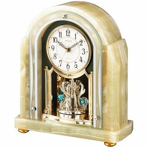 [文字入れ・名入れOK] 際立つ高級感あるハイグレード・クロック 希少なオニックス枠使用 RHYTHM/リズム 電波時計/置き時計 【RHG-S54】[送料無料]|kokuga-shop