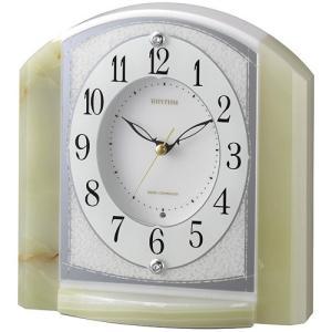 [文字入れ・名入れOK] 際立つ高級感あるハイグレード・クロック 希少なオニックス枠使用 RHYTHM/リズム 電波時計/置き時計 【RHG-S71】[送料無料]|kokuga-shop