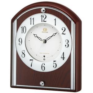 [文字入れ・名入れOK] 際立つ高級感あるハイグレード・クロック 高級木枠を使用しています RHYTHM/リズム 電波時計/置き時計 【RHG-S78】[送料区分:B]|kokuga-shop